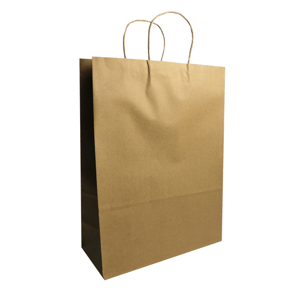 MEDIUM BROWN KRAFT PORTRAIT BAGS NEW SIZE - 200 UNITS