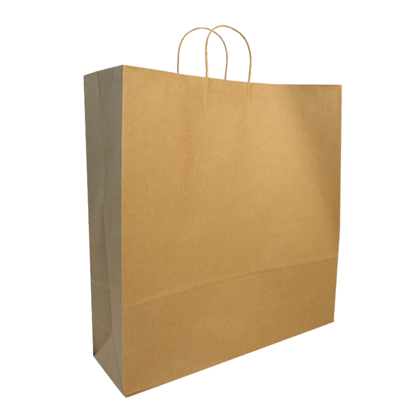 LARGE BROWN KRAFT PORTRAIT BAGS NEW SIZE - 150 UNITS