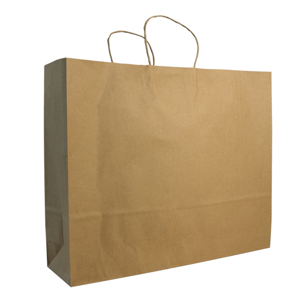 EXTRA LARGE BROWN KRAFT LANDSCAPE BAGS NEW SIZE - 100 UNITS