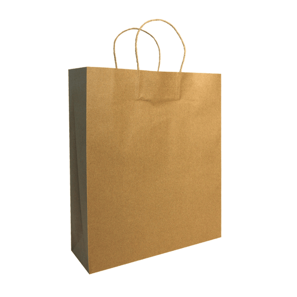MEDIUM BROWN KRAFT PORTRAIT BAGS NEW SIZE - 300 UNITS