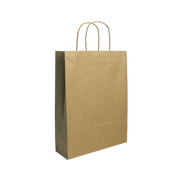 SMALL BROWN KRAFT PORTRAIT BAGS NEW SIZE - 250 UNITS