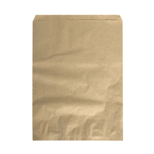 BROWN KRAFT PORTRAIT FLAT BAGS - 500 UNITS
