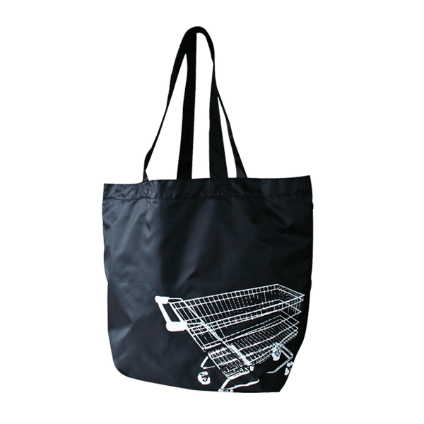 FOLD UP BLACK NYLON TROLLEY BAGS - 24 UNITS