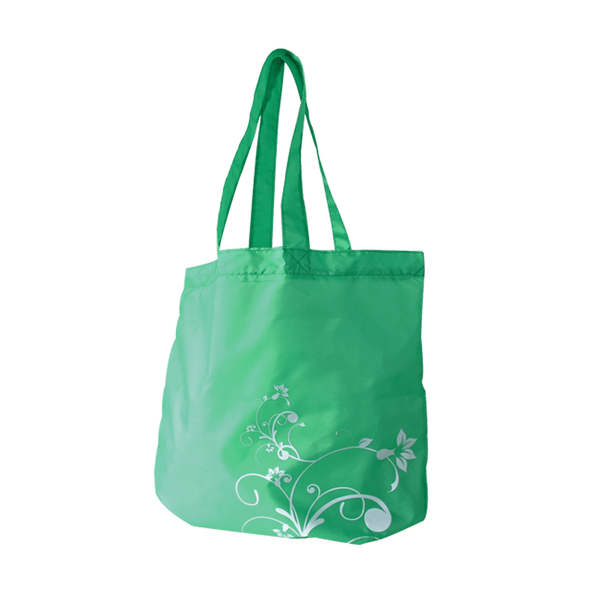FOLD UP GREEN NYLON SWIRL BAGS - 24 UNITS