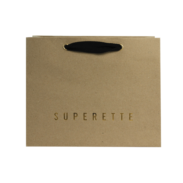 KRAFT PAPER CARRY BAG WITH COTTON TWILL HANDLES
