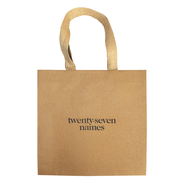 KRAFT PAPER CARRY BAG WITH PAPER RIBBON HANDLES