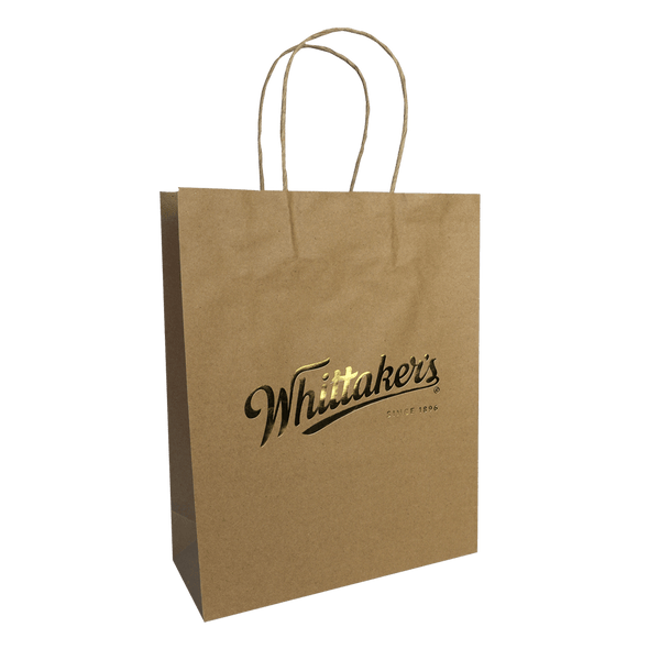 KRAFT PAPER CARRY BAG WITH PAPER TWIST HANDLES