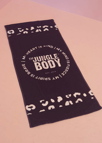 JUNGLE BLACK TOWEL