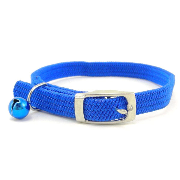 Cat Collar Nylon Stretch with Bell Assorted colours