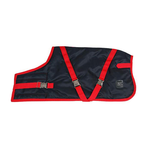 Dog Coat - Zeez Supreme Navy/Stone Red