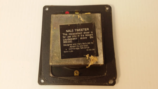 Advent Waffle Speaker, NAL'S Tweeter, Replacement for SN 300.000. #0302