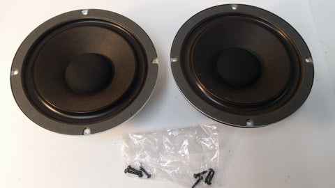 Realistic Woofers NOVA-6, #2017, Japan, Pair, Working. #0305