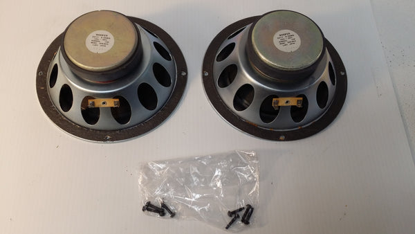 Realistic Woofers NOVA-6, #2017, Japan, Pair, Working. #0305 - silvereagleaudio.com