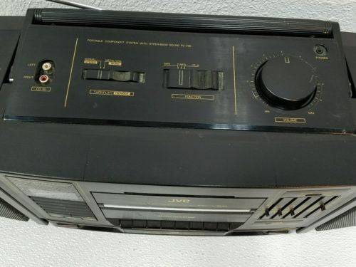 Vtg JVC Portable Component System  PC-V66 Stereo Input for Android or iPhone! - silvereagleaudio.com