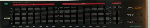Vintage MCS 3042 Digital 5000 Series Stereo Graphic Equalizer 14 Band - Silver Eagle Audio
