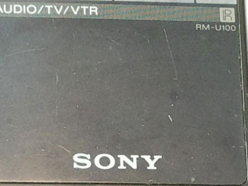 SONY  Audio/TV/VTR  Remote Control RM-U100 STR AV910 STR AV710 RECEIVER audio - silvereagleaudio.com