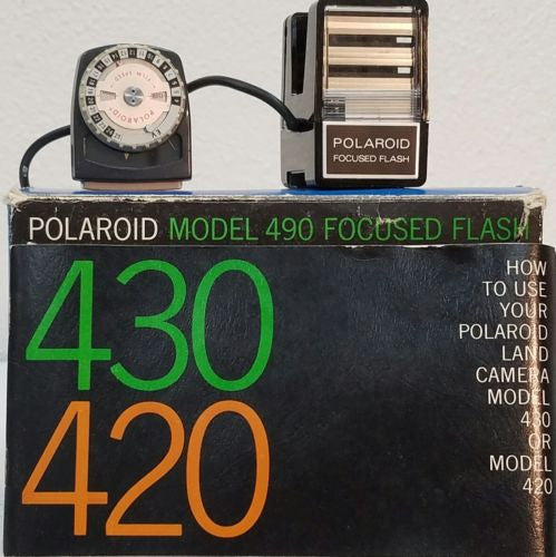 Polaroid Model 490 Focused Flash - Silver Eagle Audio