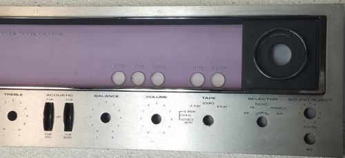 Kenwood  KR-7600 Faceplate *Used Parts Only* - silvereagleaudio.com