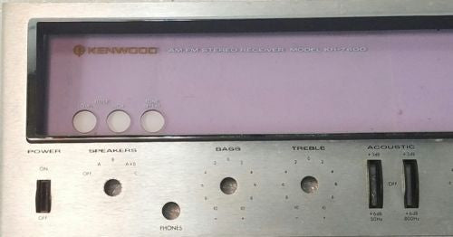 Kenwood  KR-7600 Faceplate *Used Parts Only*