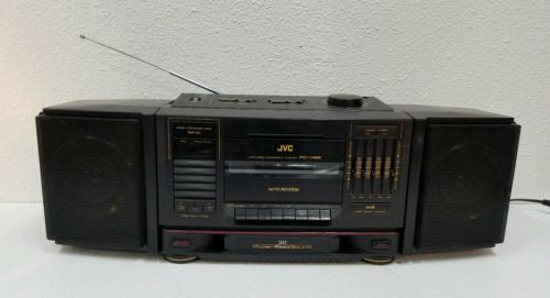 Vtg JVC Portable Component System  PC-V66 Stereo Input for Android or iPhone!