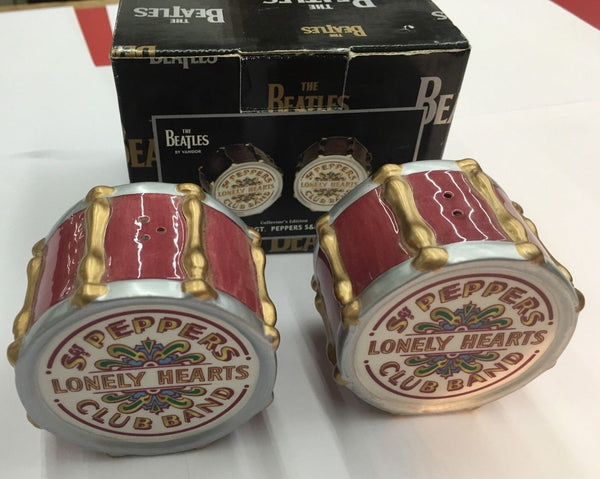 BEATLES SGT PEPPERS DRUM SALT AND PEPPER SET - Silver Eagle Audio