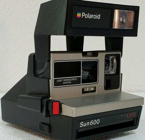 Vintage Polaroid Sun 600 Sun600 LMS Instant Film Camera - Silver Eagle Audio