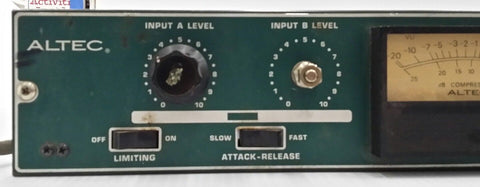 Altec 1612A Limiter-Amplifier, Powers up, gauge works, knob issues. Parts Or Repair RARE