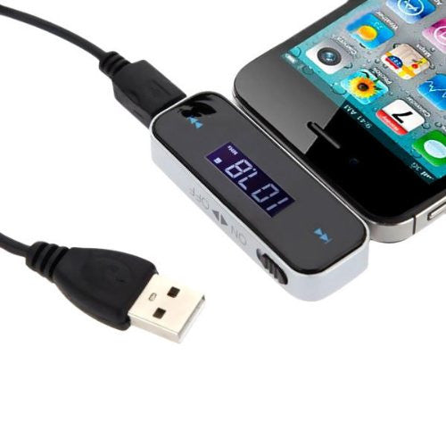 FM Transmitter In-Car Wireless Radio Adapter With 3.5mm Socket Android or iphone - silvereagleaudio.com