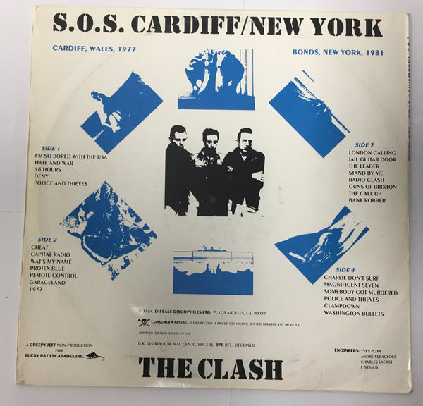 THE CLASH S.O.S. CARDIFF / NEW YORK RARE!
