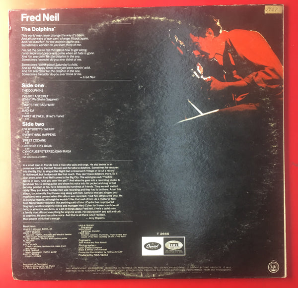 Fred Neil ‎– Fred Neil Vinyl LP Record First Press Mono - silvereagleaudio.com