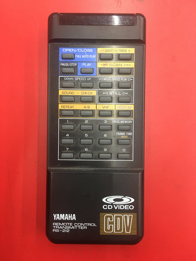 YAMAHA RS-212 remote for CDV-1100 Player - silvereagleaudio.com