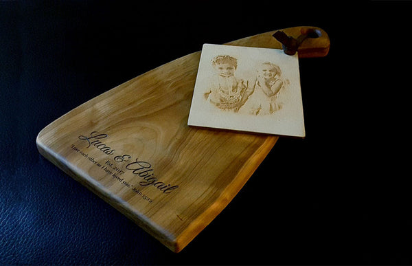 Linnell Design Cutting board etched card