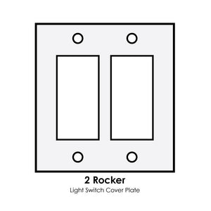 double rocker light switch cover