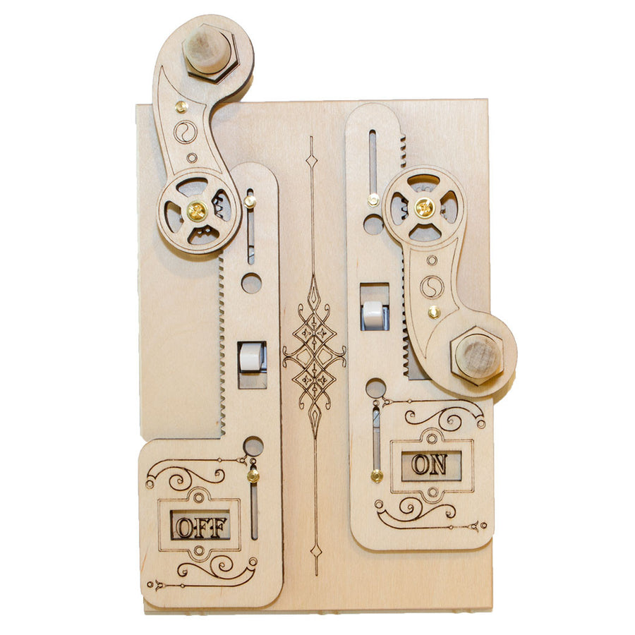 Double Rack Gear Light Switch Cover OFF