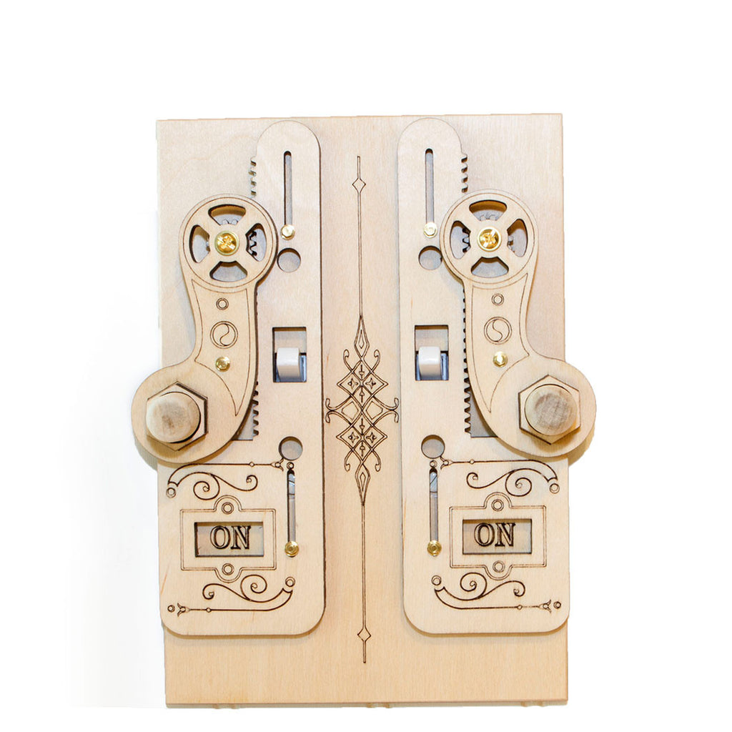 Double Rack Gear Light Switch Cover ON