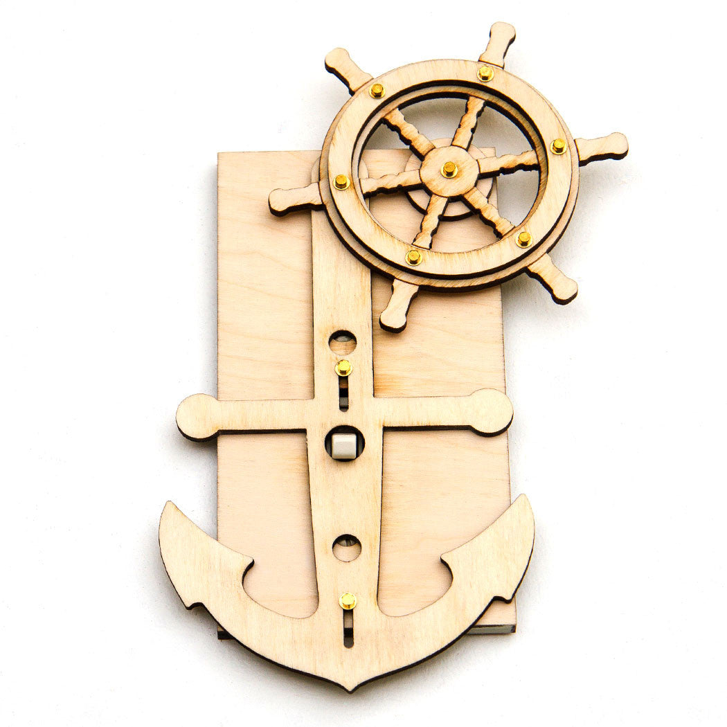 Brass Light Switch Covers Interesting Anchors Away Light Switch Plate Cover Kit  Linnell Design Design Inspiration