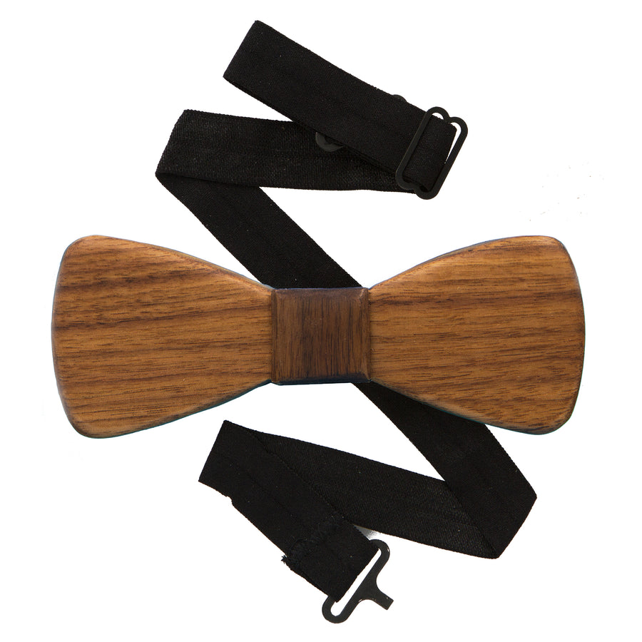 Classic Cherry Wood Bow Tie
