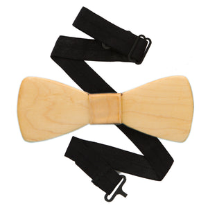 Classic Maple Wood Bow Tie