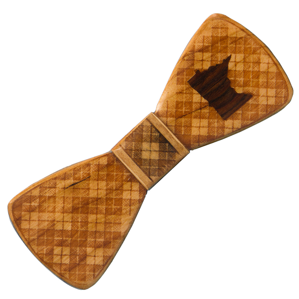 Minnesota Inlay Wood Bow Tie