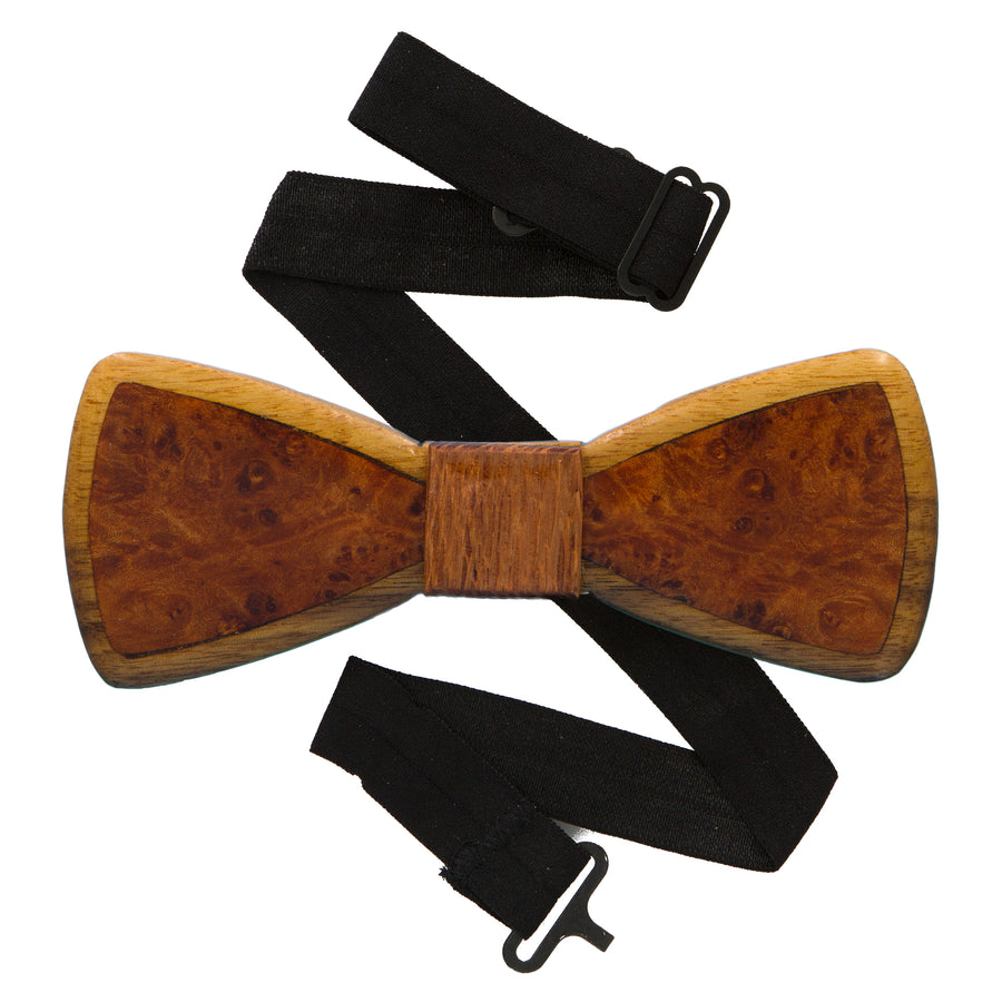 Walnut Inlay Wood Bow Tie