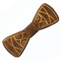 Art Nouveau Inlay Wood Bow Tie