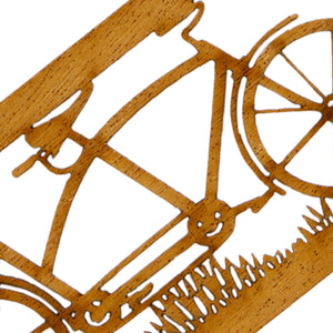 Tandem Bike Bookmark Closeup