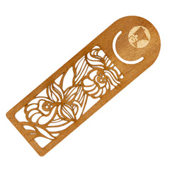 Minnesota Flower Bookmark Mahogany Wood