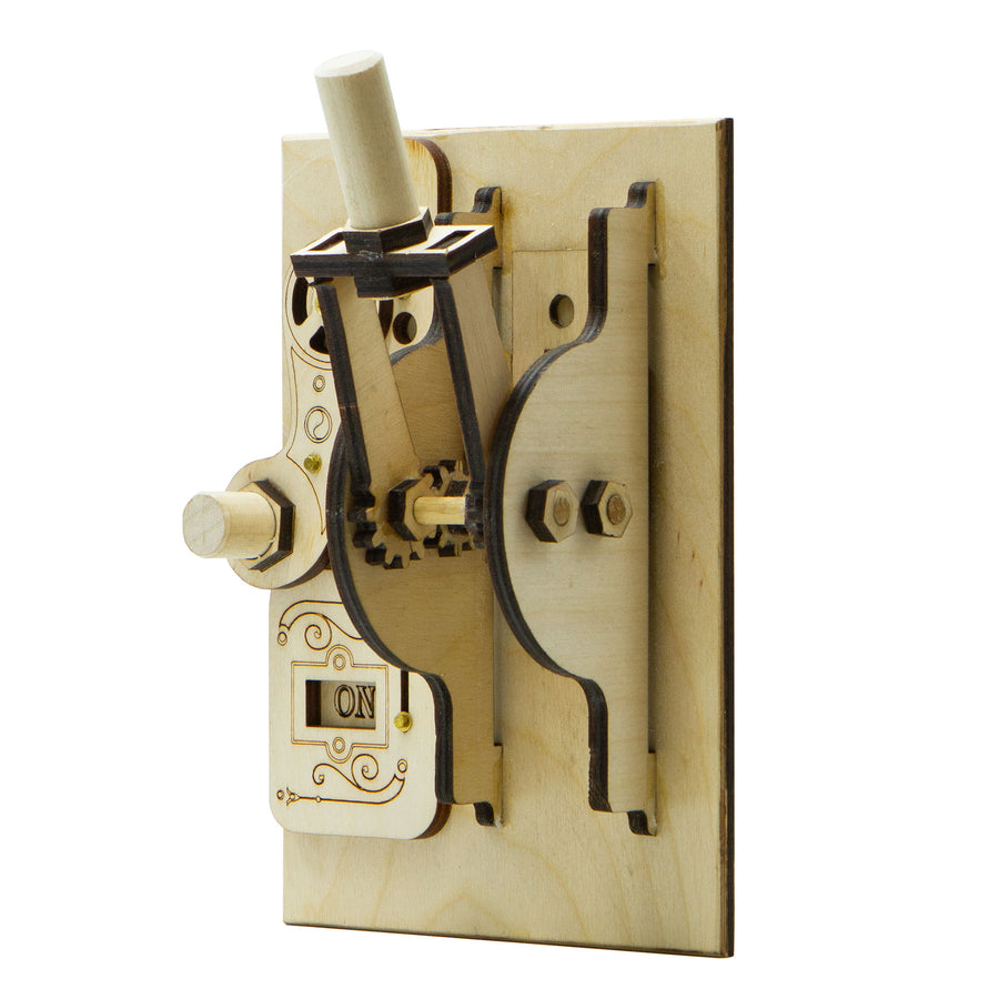 Combo LEFT Double Toggle Light Switch Cover Kit