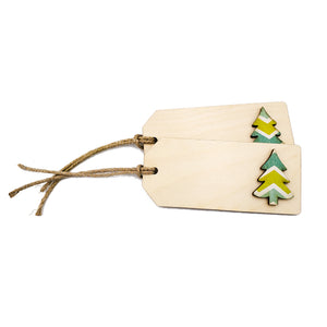 Cookie Cutter Wooden Gift Tags Set 1