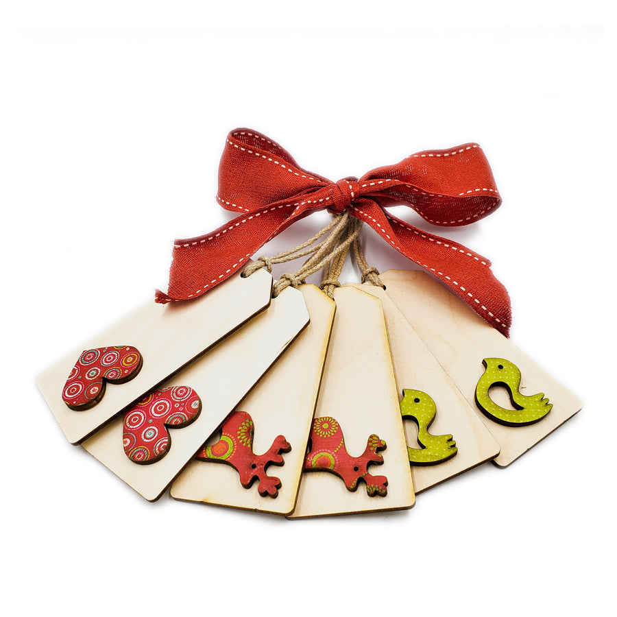 Cookie Cutter Wooden Gift Tags Set 3