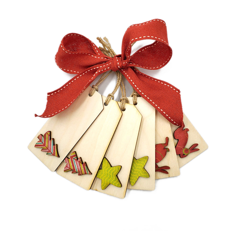 Cookie Cutter Wooden Gift Tags Set 2