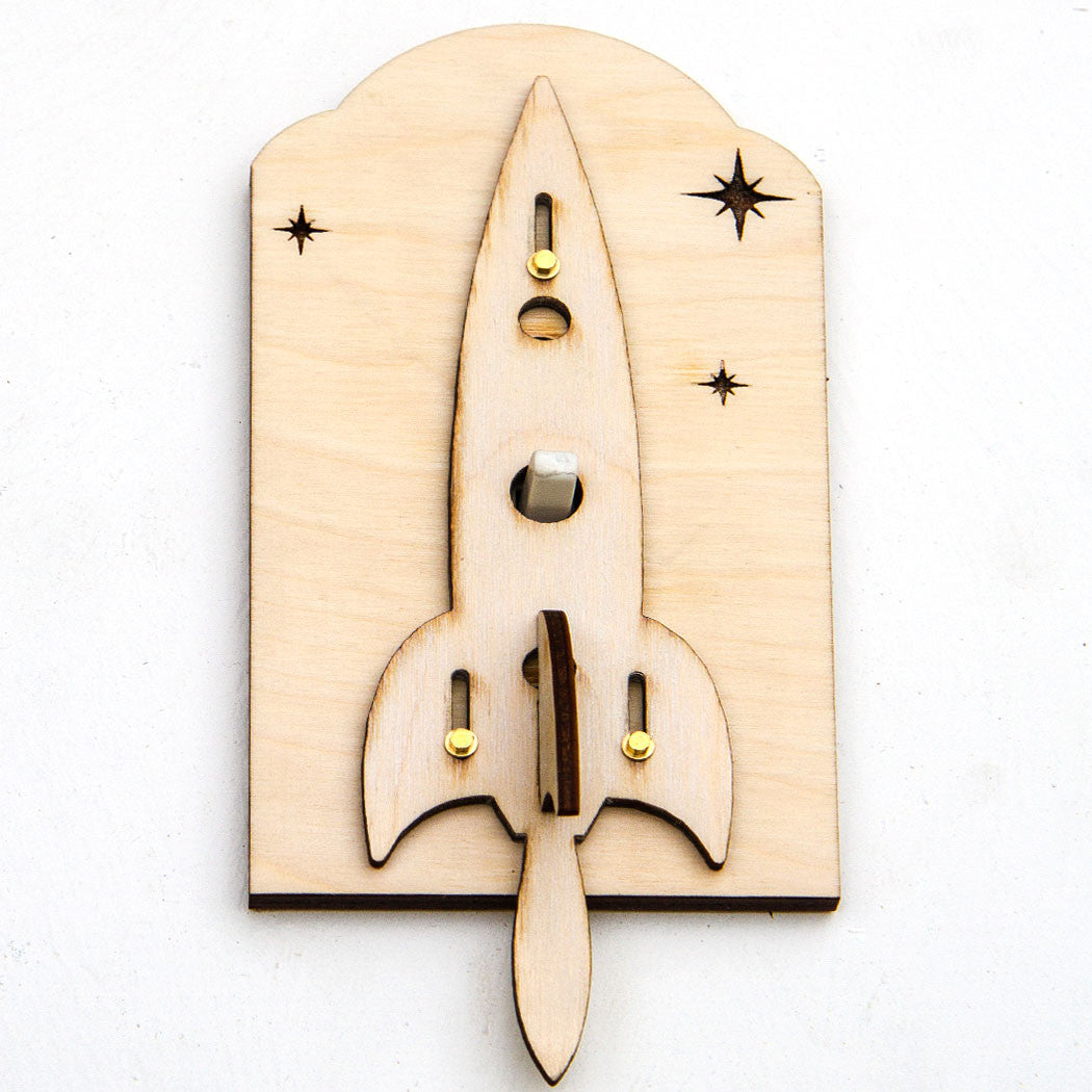 Rocket Ship Light Switch Plate Kit Front