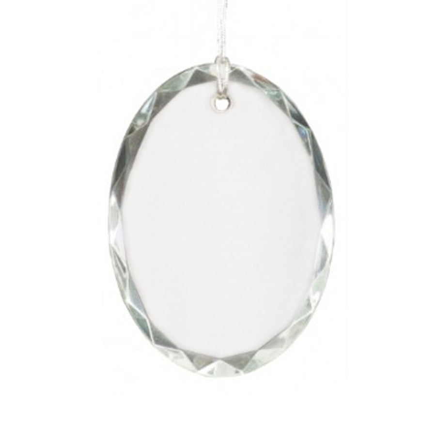 Crystal Ornament - Oval Faceted