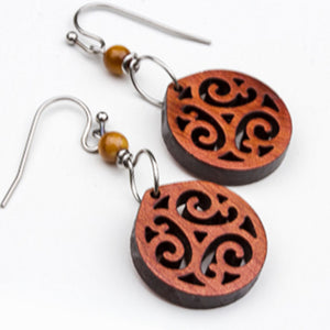 Cedar Dangle Earrings